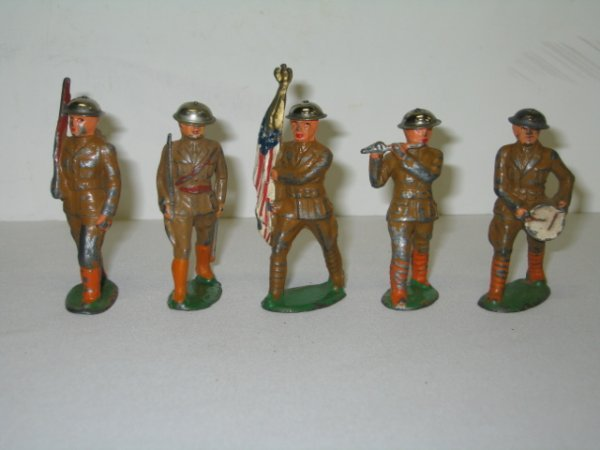 11: BARCLAY LEAD TOY SOLDIERS, 5 TOTAL