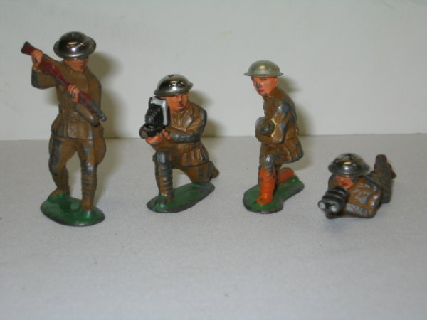13: BARCLAY LEAD TOY SOLDIERS, 4 TOTAL