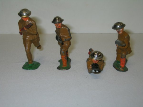 16: BARCLAY LEAD TOY SOLDIERS, 4 TOTAL