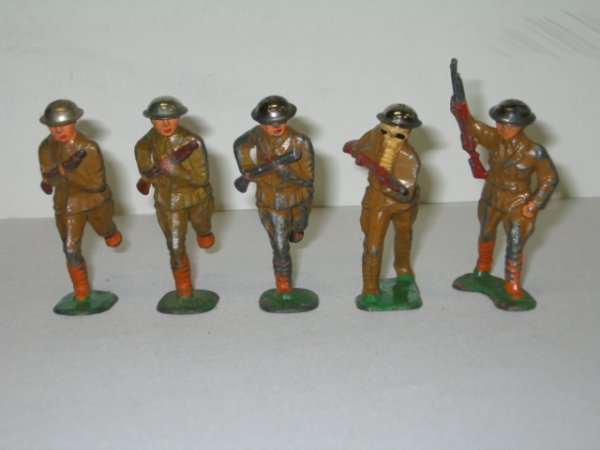 17: BARCLAY LEAD TOY SOLDIERS, 5 TOTAL