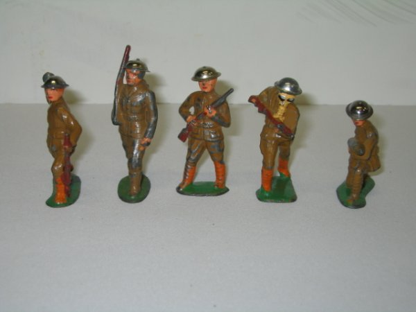18: BARCLAY LEAD TOY SOLDIERS, 5 TOTAL
