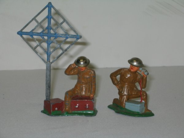 20: BARCLAY LEAD TOY SOLDIERS, 2 TOTAL