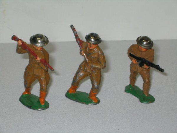 21: BARCLAY LEAD TOY SOLDIERS, 3 TOTAL