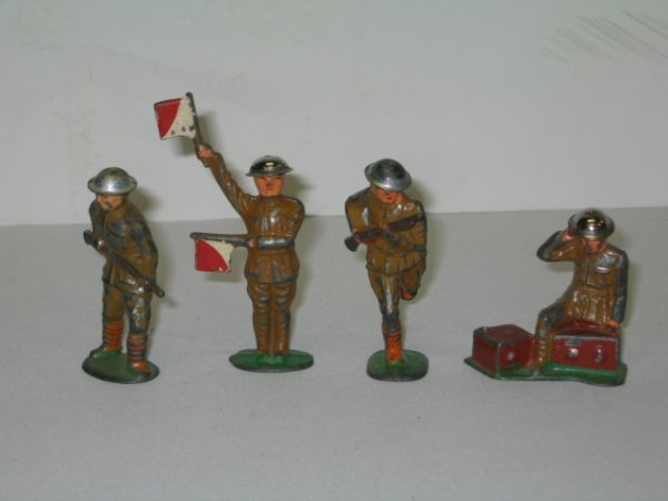 22: BARCLAY LEAD TOY SOLDIERS, 4 TOTAL