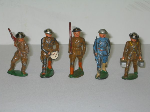 23: BARCLAY LEAD TOY SOLDIERS, 5 TOTAL