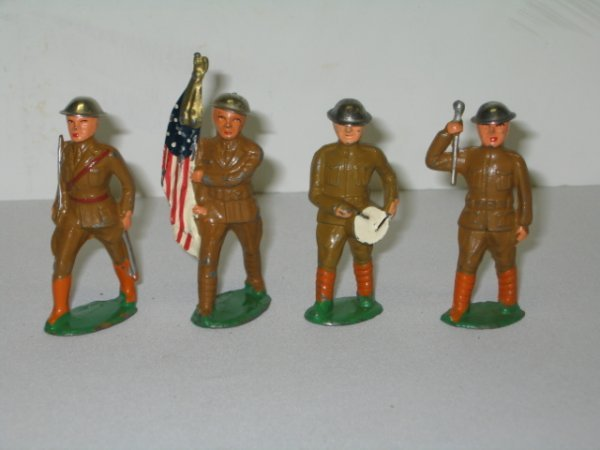 24: BARCLAY LEAD TOY SOLDIERS, 4 TOTAL