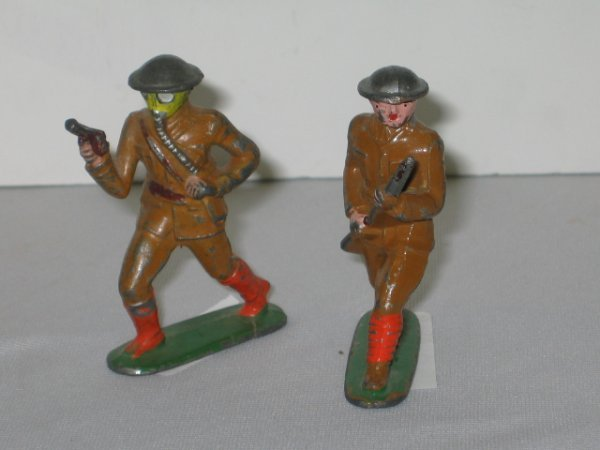 123: TOMMY TOY LEAD TOY SOLDIERS, 2 TOTAL
