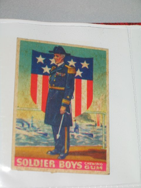 """3: CHEWING GUM CARDS, """"SOLDIER BOYS"""", 22 TOTAL"""
