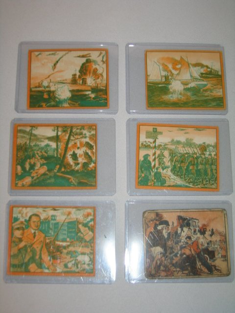 """5: GUM CARDS """"WAR NEWS PICTURES"""" , 6 TOTAL"""