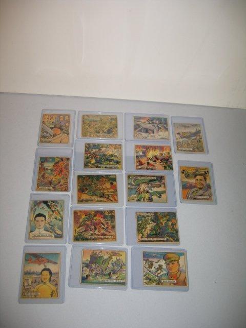"6: GUM CARDS, ""EDUCATIONAL CARDS/WAR GUM"", 16 TOTAL"