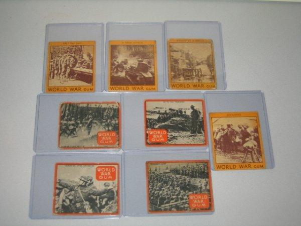 7: GOUDEY GUM CO., WORLD WAR GUM CARDS, 8 TOTAL