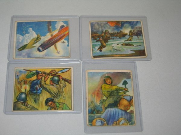 9: BOWMAN GUM CARDS, FIGHT THE RED MENACE, 4 TOTAL