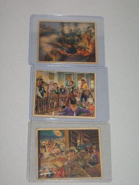 12: GUM CARDS, LONE RANGER, 1940, 3 TOTAL