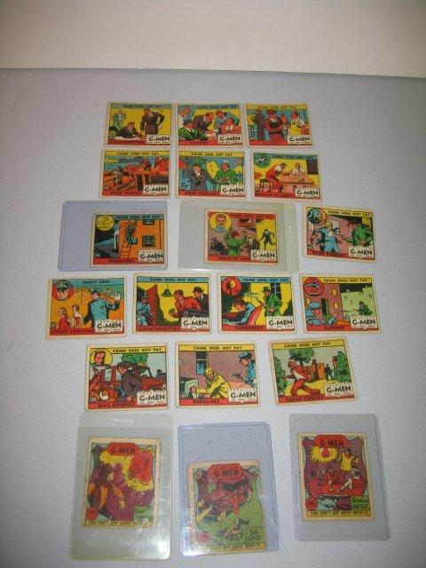 14: GUM CARDS, AMERICAN G-MEN, 19 TOTAL