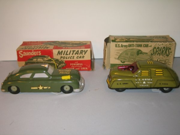 56: SAUNDERS MILITARY POLICE CAR & COURTLAND  ANTI-TAN