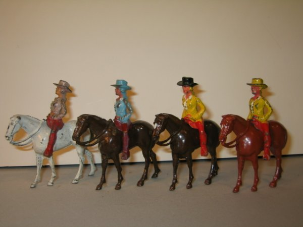 """154: MANOIL """"MY RANCH CORRAL SERIES"""", COWGIRL RIDERS, 4"""