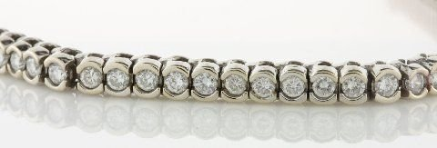 398: LADIES DIAMOND BRACELET 3.62CT.TW, 18KT WHITE GOLD