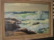 "501: O/B SGD. FRANK H. MYERS (1899-1956) ""ROLLING SEA"""