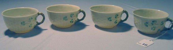 10: BELLEEK SET/4 TEA CUPS