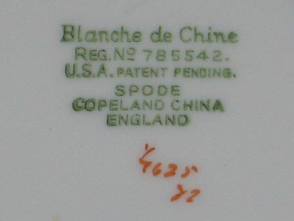"76: 59 PCS. SPODE ""BLANCHE DE CHINE"" CHINA - 5"
