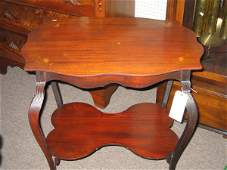 94K: VICTORIAN INLAID PARLOR TABLE