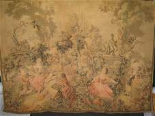 187: FRENCH TAPESTRY W/COURTING SCENE.