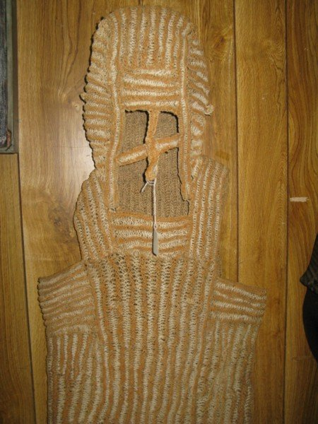 302: PAPUA NEW GUINEA ASMAT PNG RAFFIA CEREMONIAL DRESS