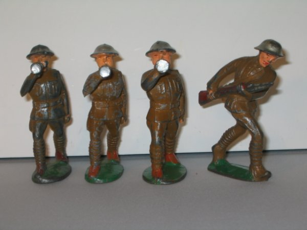 2: MANOIL LEAD TOY SOLDIERS, 4 TOTAL