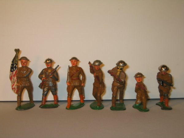 14: BARCLAY LEAD TOY SOLDIERS, 7 TOTAL