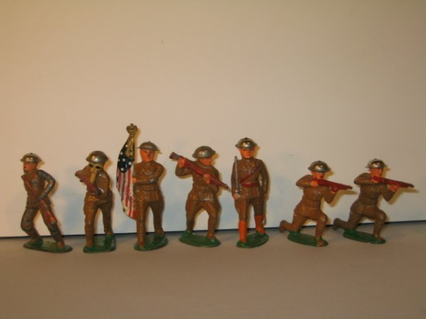 17: BARCLAY LEAD TOY SOLDIERS, 7 TOTAL