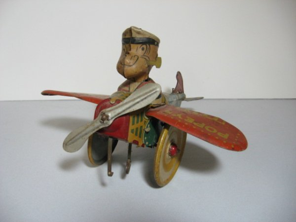 "166: MARX ""POPEYE THE PILOT"" HELICOPTER, TIN LITHO"