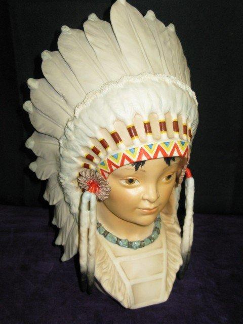 """2: CYBIS INDIAN BOY HEAD """"LITTLE EAGLE"""""""
