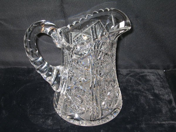 7: HAWKES WATER PITCHER. BRILLIANT CUT CRYSTAL GLASS