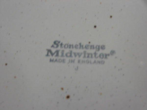 """52C: 28 PCS. WEDGWOOD """"MIDWINTER"""" STONEHENGE EARTH - 3"""
