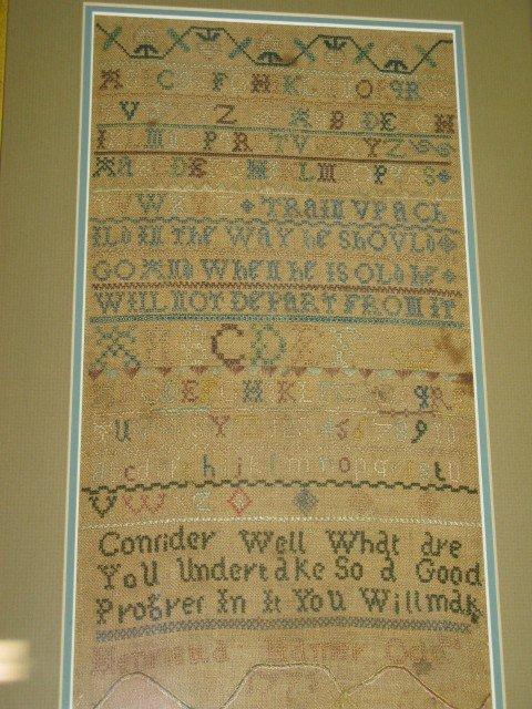 22: NEEDLEWORK SAMPLER, 1775, SGD.  HENRIETTA HORNER