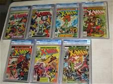 170: MARVEL X-MEN COMICS, #95,100-105, 7 TOTAL