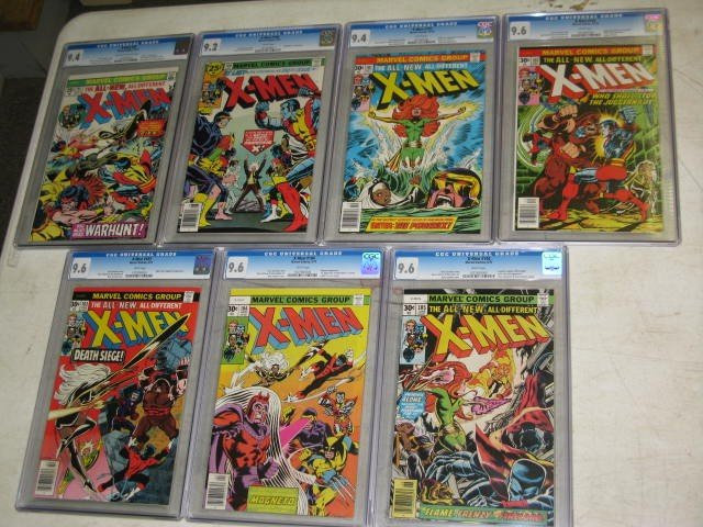 170: MARVEL X-MEN COMICS, #95,100-105, 7 TOTAL