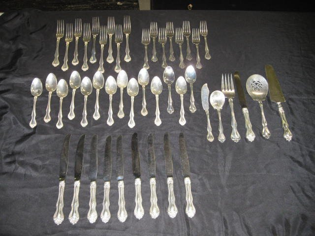 125: 46 PCS. WESTMORELAND STERLING FLATWARE