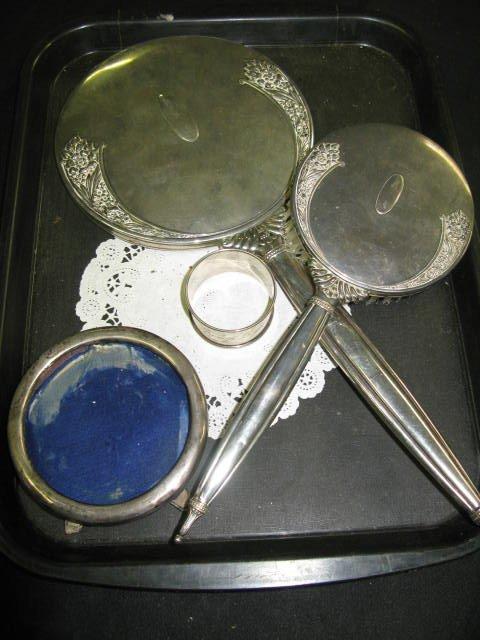 14: STERLING DRESSER PIECES FOR SCRAP, PLUS