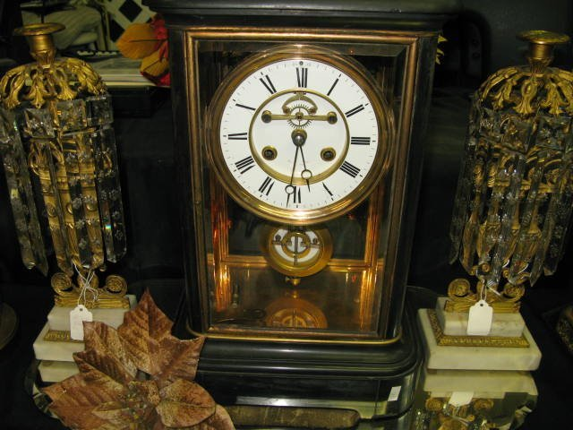 100: TIFFANY MARBLE SHELF CLOCK