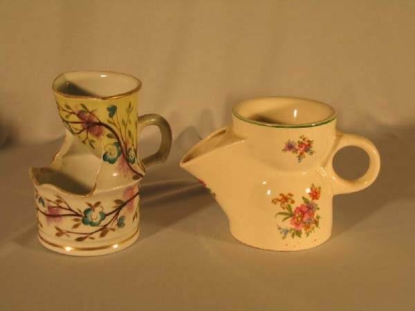 18: 2 PORCELAIN SHAVING MUGS