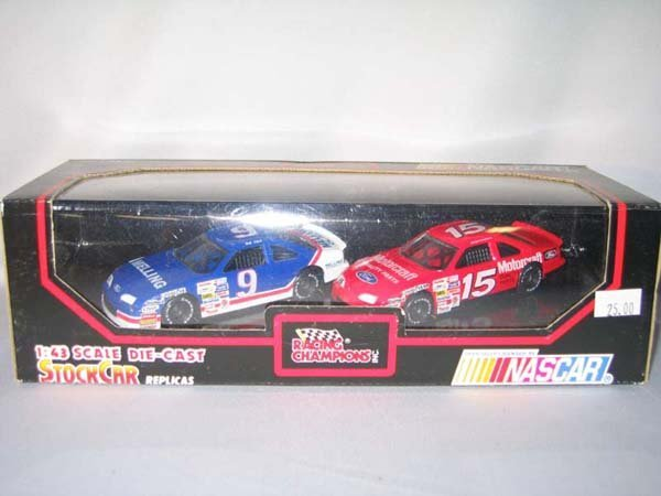 351: 2 NASCAR RACING CHAMPION STOCK CAR REPLI