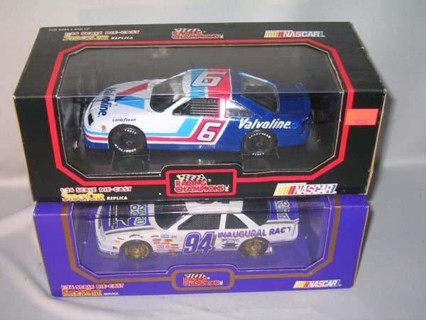 352: 2 NASCAR STOCK CAR REPLICAS. 1:43 SCALE