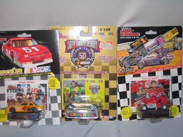 363: 3 DIECAST NASCAR CARS W/COLLECTOR CARDS