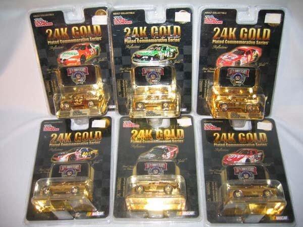 366: SET/6 24K GOLD PLATED NASCAR COMMEM. SER