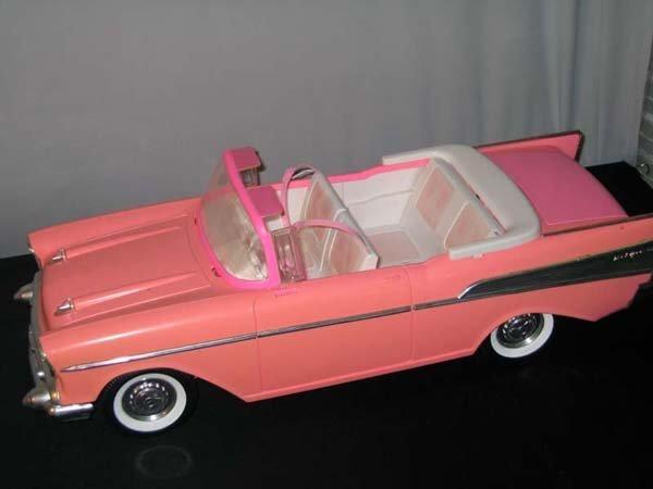 367: BARBIE CAR, PINK CADILLAC BEL AIR