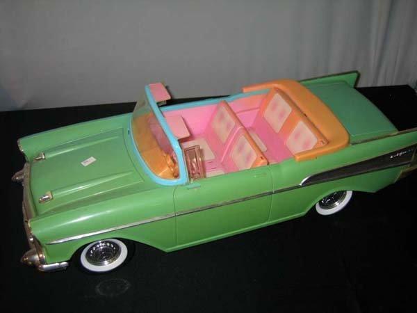368: BARBIE CAR, GREEN CADILLAC BEL AIR