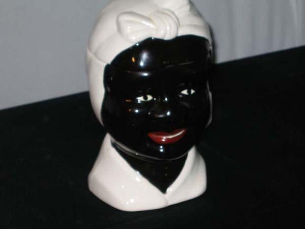 369: BLACK WOMAN, CERAMIC COOKIE JAR