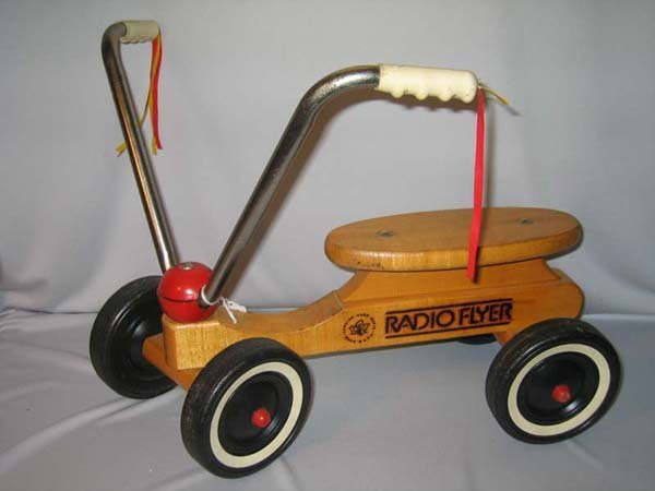 765: CHILDS RADIO FLYER WOOD SCOOTER
