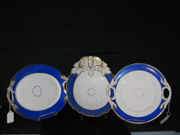 814: 14 PCS. EARLY FRENCH PORCELAIN. BLUE/WHI